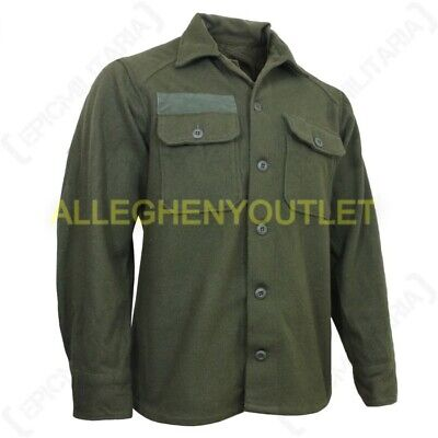 US Military WOOL FIELD SHIRT Cold Weather Winter Hunting OD Green Medium NEW ()