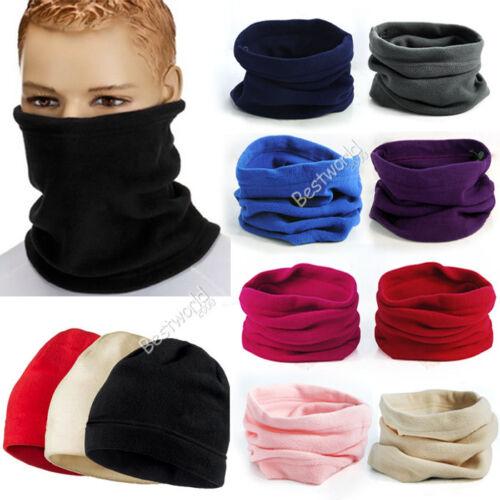 Mens-Womens-Thermal-Warm-Fleece-Snood-Scarf-Neck-Warmer-Beanie-Hat-Ski-Balaclava