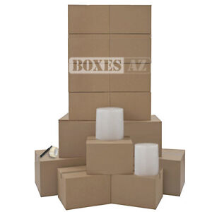 Moving Kit – 15 HEAVY DUTY Moving Boxes & Moving Supplies – 1 Room Moving Kit