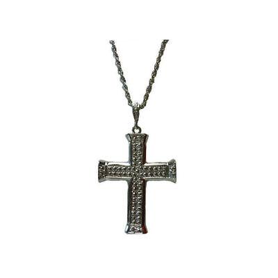 Kreuzkette Gold oder Silber Kostümzubehör Priester Halloween Papst Karneval