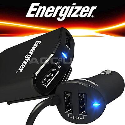 Energizer 50528 12v 24v In Car Truck 2.4A Quad 4 USB Socket Adapter Fast