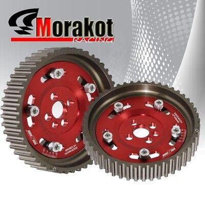 CA18DE Engine Adjustable 2 Piece Aluminium Wheel Camshaft Cam Gear Set Kit Red for sale  South El Monte