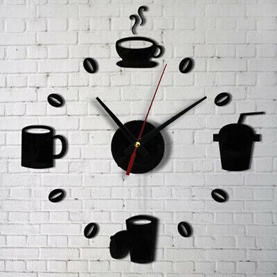 Model Acrylic DIY Self Adhesive Interior Living Room Decors Wall Clock Black