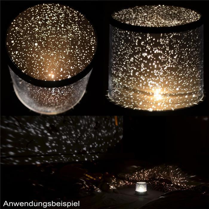 LED Sternenprojektor -Sternenhimmel Nachtlicht + 3 Funktionen - Star Sky
