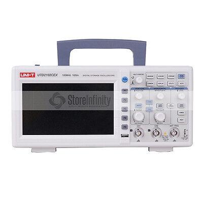 "UNI-T UTD2102CEX 1GSA 7"" 100MHz 2CH Digital Speicher Oszilloskop Oscilloscope"