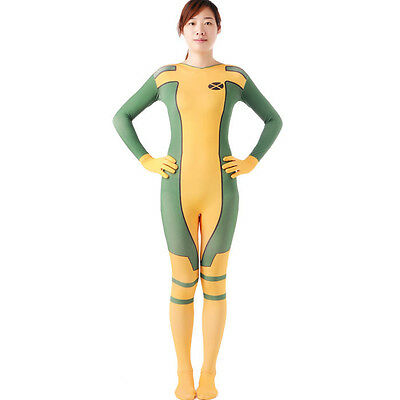 Adult Rogue Superhero Marcel Costumes Cosplay Halloween Zentai Bodysuit Catsuit