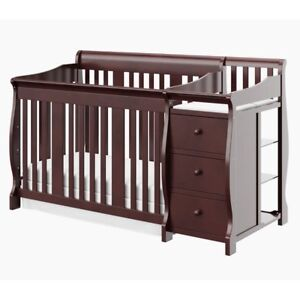 4-in-1 Convertible Crib and Changer.