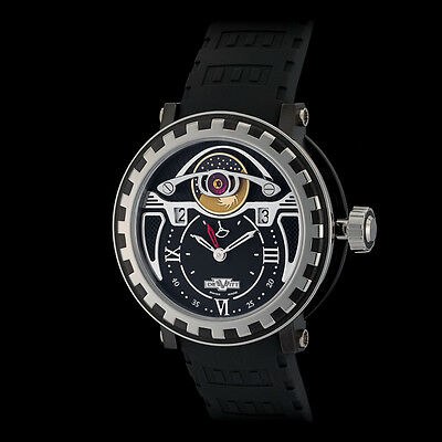 DeWitt Titanium PVD Gold Academia Triple Complication GMT Day Night. New
