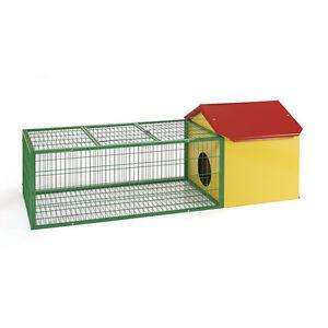 Metal Rabbit Guinea Pig House Cage Hutch Run Pen Large