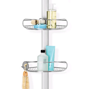 Simplehuman shower caddy stainless steel