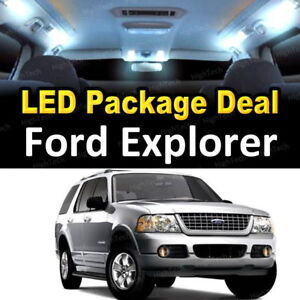 11x White Led Lights Interior Package Deal For 2002 2003 2004 2005 Ford Explorer