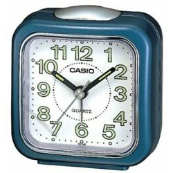 Casio #TQ-142-2 Table Top Travel with Light Alarm Clock Blue
