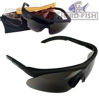 SWISS EYE® Raptor Schutzbrille schwarz UV-400 inkl. Wechselscheiben Brille TOP