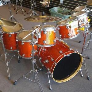 Tribal drum set-batterie en Érable 8-10-12-13-14-16-22 - used-usagée