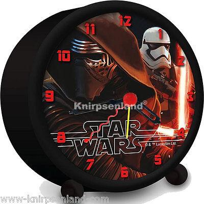 Disney Star Wars Kinder Wecker Kinderwecker Lernwecker Alarm Analog Zeiger Uhr