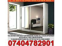 BRAND NEW 2 Door Sliding Mirrored Cabinet Wardrob