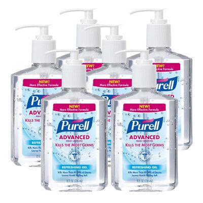 Purell Advanced 8 oz Gel Instant Hand Sanitizer Pump (6-Pack) 9652-12
