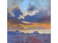 Original oil on canvas by Scott Naismith : Arisaig Sky