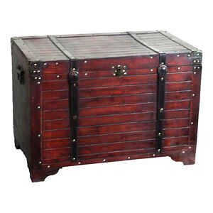 Hope Chest Old Fashioned Wood Storage Trunk Chests HAND CRAFTED Trunks Boxes NEW