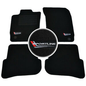 4-TAPPETINI-IN-MOQUETTE-SPORTLINE-SPECIFICO-AUDI-A1-2010-gt-QUATTRO-AMPLIFIED
