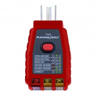 Platinum Tools Gfci Socket Tester 110-125vac T302