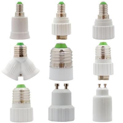 LED Lampensockel Adapter Fassung  Konverter E14 E27 GU9 GU10