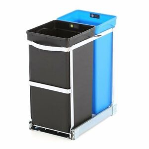 Under Counter Pull-Out Trash Can Dual Compartment
