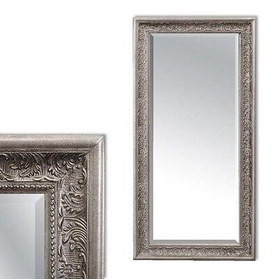 Wandspiegel barock pompös Spiegel 100x50cm antik-silber Design Holzrahmen