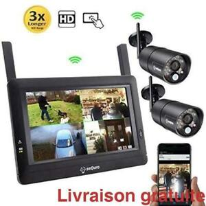 Moniteur avec deux cameras HD 720p sans fil / Long Range Wireless Video Surveillance System