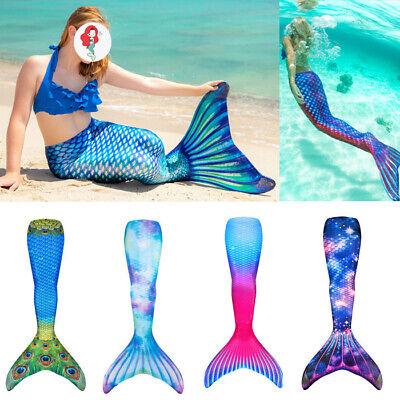 Badeanzug Monoflosse Kostüm Damen Kinder Meerjungfrau Schwanz Bademode Schwimmen Kinder Schwimmen Flossen