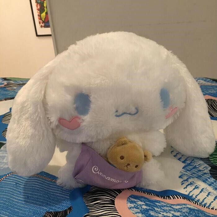 Sanrio Cinnamoroll Cute Plush Toy Kawaii Kid Soft Doll Anniversary Gifts 28cm