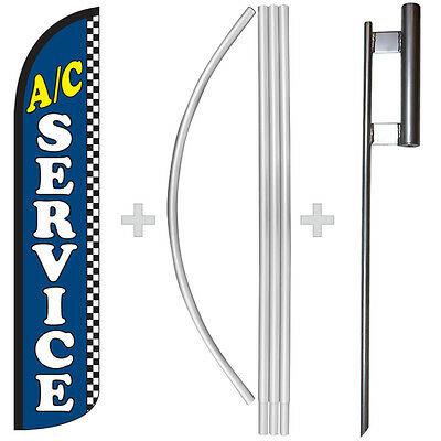 Ac Service 15 Tall Windless Swooper Feather Banner Flag Pole Kit