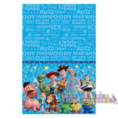 TOY STORY 4 PLASTIC TABLE COVER ~ Birthday Party Supplies Cloth Stars Woody (Birthday Stars Table Cover)