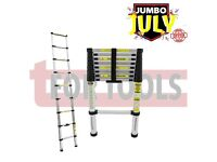 SilverLine Telescopic Ladder 2.6m 150kg 452123