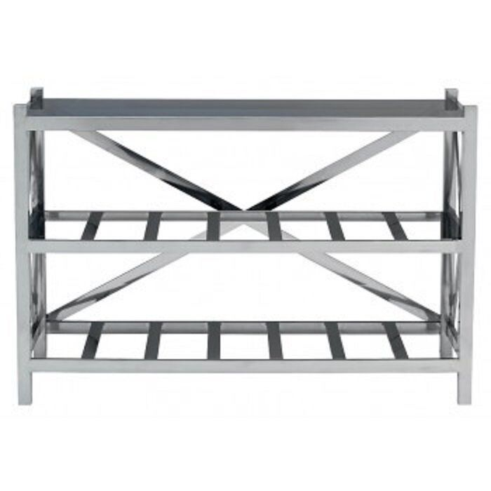 Designer of London - the Horatio Console Table in Polished Steel rrp £1499