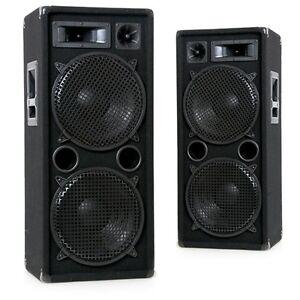 2000 Watt PAAR robuste 3-Wege Full Range Disco DJ Lautsprecher Boxen DJ-Pro 212