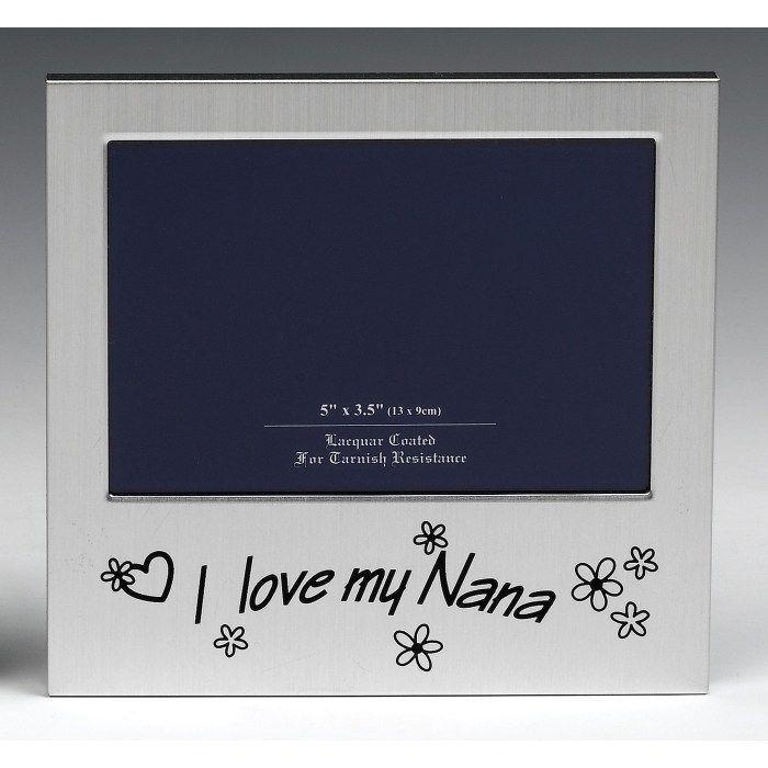 "5 x 3.5"" I Love My Nana Photo Frame Birthday Christmas Fathers Day Gift Present"