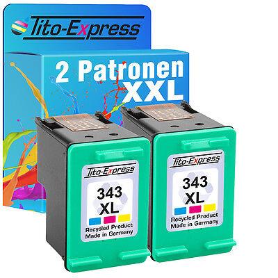 2x HP 343 XL Druckerpatrone für Officejet Photosmart