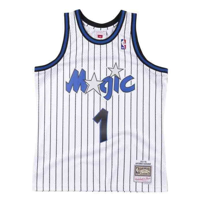 closer at great quality outlet store sale Penny Hardaway #1 Orlando Magic Mitchell Ness Mesh NBA Throwback ...