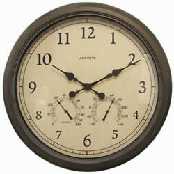 FREE SHIPPING Acu-Rite Indoor/Outdoor Copper Patina 24 in. Wall Clock