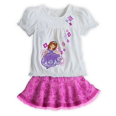 DISNEY STORE SOFIA THE FIRST TOP & SKIRT SET GIRLS SIZE 7/8 CUTE & STYLISH! NWT - Sofia The First Skirt
