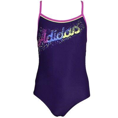 Adidas Youth Lineage One-Piece Badeanzug lila Mädchen INFINITEX Schwimmanzug NEU