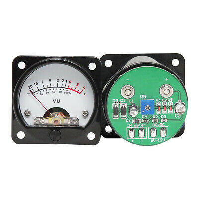 2pcs 45mm Vu Meter Stereo Amplifier Board Level Indicator Adjustable With Driver