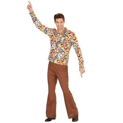 Herren-Kostüm Hemd Bubbles, tolles Hippiehemd mit 70er Muster für - Hippie Kostüm Muster