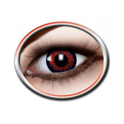 Kontaktlinsen Red Wolf Motivlinsen Verrückte Augen Halloween (Halloween Rote Augen Kontakte)