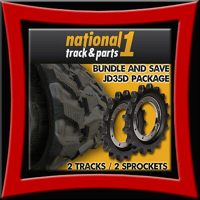 Bundle Save John Deere 35d 2 Rubber Tracks And 2 Sprockets - 300x52.5x86