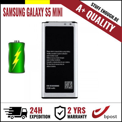 A+ REPLACEMENT VERVANG BATTERY/BATTERIJ/BATTERIE FOR SAMSUNG GALAXY S5 MINI