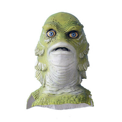 Halloween Creature from the Black Lagoon Monster Latex Mask Fancy Dress Costume](The Creature From The Black Lagoon Costume)