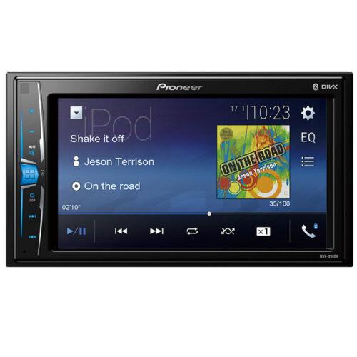 Pioneer MVH-200EX RB Double 2 DIN MP3 Digital Media Player 6.2 LCD Bluetooth
