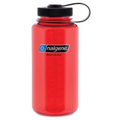 Nalgene 32oz Tritan Wide Mouth Bottle Red Mouth Tritan Water Bottle